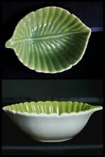 CINDY CRAWFORD STYLE GREEN LEAF BOWL NWOB