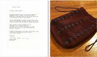 🔥 JANIS JOPLIN Worn Owned Handbag Purse Wardrobe Prop WOODSTOCK Provenance COA
