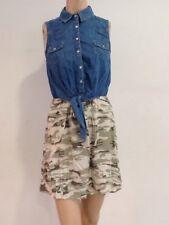 Tally Weijl Damen Kleid Jeans Camouflage Gr. 36 1A Zustand