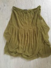Mais il est ou le Soleil jupe jupon tulle vert anis kaki  taille M neuve
