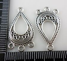 16pcs Tibetan Silver 1 To 3 Hole Connectors Earring 15x27mm
