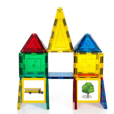 Magnetic Stick N Stack Award Winning 40 Piece Junior Set, Includes 32 Tiles and