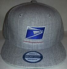 USPS Embroidered Baseball Cap Heather Gray  SNAPBACK / FLATBILL / USPS Logo1 Hat