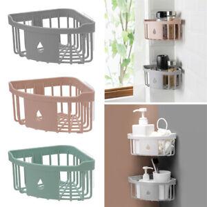 Bathroom Corner Triangular Shower Caddy Shelf Storage Holder Kitchen Organizer
