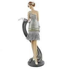 Juliana Art Deco Gatsby Girls Silver / Grey Lady Figurine / Ornament.New.61083