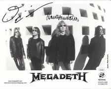 Dave Mustaine David Ellefson signed autographed 2001 Megadeth 8x10 B&W photo JSA