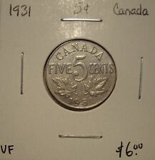 Canada George V 1931 Five Cents -  VF