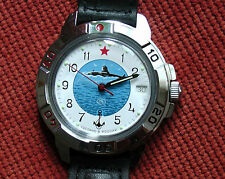 Wrist Mechanical Watch VOSTOK KOMANDIRSKIE Commander Military Submarine 431055