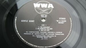 Gentle Giant IN A GLASS HOUSE 1973 UK LP 1st Press WWA PLAYS NEAR MINT/ EX+ HEAR