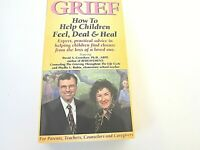 VHS Tape Grief How to Help Children Feel Deal Heal David Crenshaw 1999 Video YB3