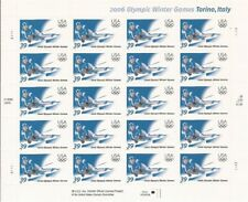 US Stamp - 2006 Winter Olympics Skier - 20 Stamp Sheet - Scott #3995