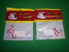 Big Bite Baits Pro Series Panfish, Crappie Jigs / 2 Pk Lot, Pink, White & Black