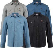 ✅ LEE COOPER Herren Hemd langarm Jeans Denim Gr.S-XXL Freizeit Sommer Long Shirt