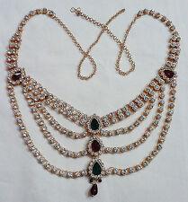 Gold Plated Diamonds Kundan Hip Waist Belly Dance Belt Kamar bandh Patta Jewelry