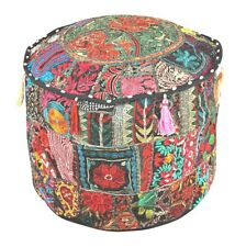 Indien Vintage Pouf Ottoman Mandala Round Cover Pouffe Foot Stool Decor Cover