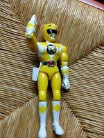"Mighty Morphin Power Rangers Karate Chop Yellow Ranger Action Figure 8"""