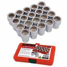 20 PIECE MASTER PORSCHE LOCKING WHEEL NUT NUTS SET SPLINE 19 MM ABC - 50 TO - 69