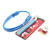 PCIE Express PCI-E Graphic Extender Riser Card 1X to 16X Red Board Adapter