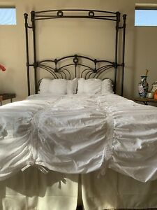 Irregular Pottery Barn Hadley Ruched Cotton Duvet Cover 4 Pcs Set ( Size Double)