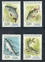 STAMP / TIMBRE FRANCE NEUF ** SERIE N° 2663 AU 2666 FAUNE POISSON