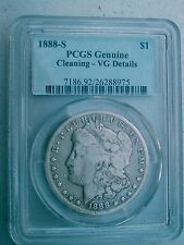 1888-S RARE MORGAN SILVER DOLLAR PCGS VG  128 YEARS OLD / PART OF U.S. HISTORY