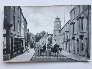 Pembroke Main Street looking west with horse cart 1915 postcard