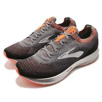 Brooks Levitate 2 Grey Black Orange Silver Men Running Shoes Sneakers 110290 1D