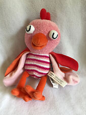 "Nino & Ideas N & I Tweeting Pink Bird Plush Stuffed Animal Striped 10""  Baby Toy"
