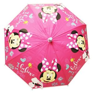 Minnie Mouse - I Believe In Me Cane Umbrella for Boys Girls (One Size) (Pink)
