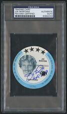Joe Montana Signed 1981 MSA Holsum Discs Rookie Card PSA/DNA Autograph