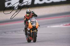 Colin Edwards Hand Signed NGM Forward Racing Yamaha 12x8 Photo 2014 MotoGP 3.
