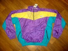 NEW Vtg 80s COLOR BLOCK Windbreaker SMALL Fresh Prince Hip Hop Track Jacket NWT