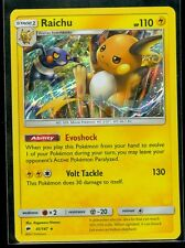 Pokemon RAICHU 41/147 - Burning Shadows RARE HOLO - MINT!