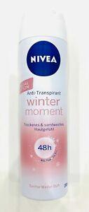 6x Nivea Winter Moments 48h Deodorant Spray a 150ml