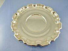 "PLAIN PIE CRUST RIM SALVER TRAY 8"" STERLING  86/16 BY BIRKS STERLING 1945"