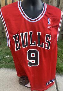NBA Reebok Luol Deng #9 Chicago Bulls Jersey RED Size Large L Duke All-Star