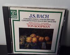 Bach - Ton Koopman/Amsterdam - Concerto Pour 2 Violions BWV 1043 (CD, 1987)