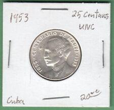 1953 25 Centavos Silver Coin - UNC