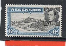 Ascension GV1 1938-53 6d black & blue sg 43b LH.Mint