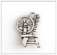 35 Textile Yarns Car Tibetan Silver Pendants Jewelry Making Findings 5E4CF0