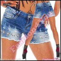 Sexy Womens Denim Hot Pants Ladies Summer Shorts Jeans Size 6,8,10,12,14 UK