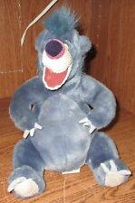 "Disney Store Baloo Plush Jungle Book Stuffed Animal 12"" Used Grey Toy Bean Butt"