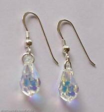 Crystal AB Earrings made with SWAROVSKI Crystal Tear Drop & STERLING SILVER