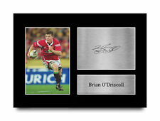 More details for brian o'driscoll british lions signed autograph a4 photo print for rugby fans