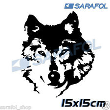 Wolf Aufkleber Sticker Tuning 15x15 cm Adesivo Lupo Lobo Loup Bолк Wilk Farkas