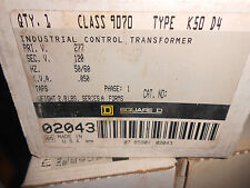 SQUARE D 9070 K50 D4 INDUSTRIAL CONTROL TRANSFORMER PRIMARY 277 VOLT
