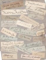 INDIA POONA 1893 AUTOGRAPHS SIGNATURES + PAPER CUTTINGS Page Ref 48411