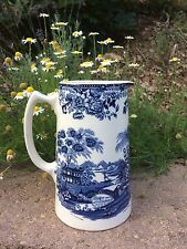 "Royal Staffordshire Ceramic Pitcher Jug ""Tonquin"" Clarice Cliff Blue England"