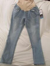 Maternity Oh Baby by Motherhood Embellished SKINNY Jeans Size Large