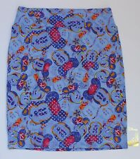 Medium LuLaRoe Disney Cassie skirt Minnie Mouse Flower Cap Blue Violet Pink NWT